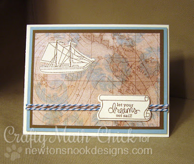 Nautical Masculine card by Crafty Math Chick | Message in a Bottle by Newton's Nook Designs