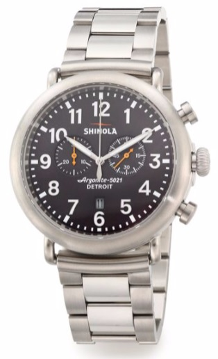 Shinola stainless steel watch