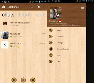 BBM Mod WP Wood v3.0.1.25 APK Terbaru Gratis