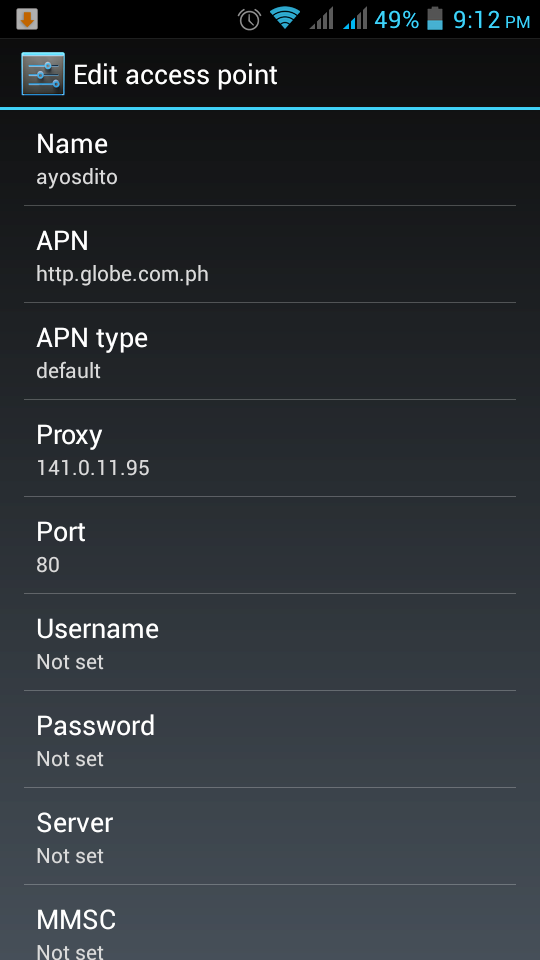 freeayosdito apn settings