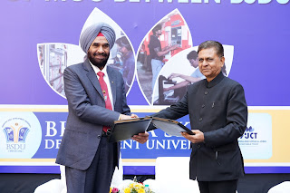 BSDU enters in MoU with Rajasthan ILD Skill University