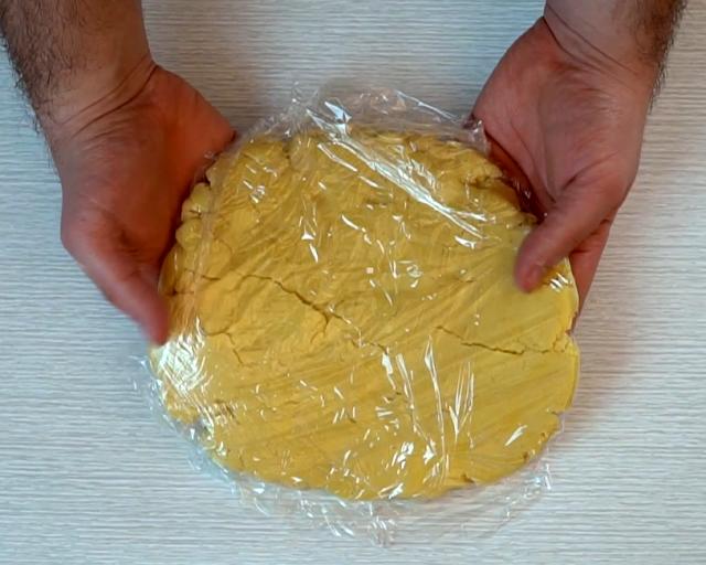 kneading pie crust dough