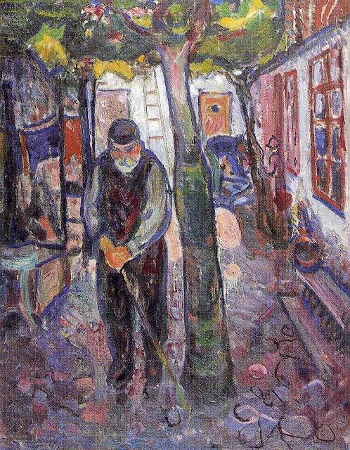Эдвард Мунк - Старик в Варнемюнде. 1907