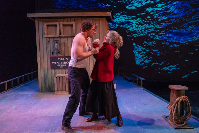 Mat Burke (Jonathan Estabrooks) and Anna Christie (Melanie Long) in Anna Christie, Encompass New Opera Theatre, 2018. Photo: Steven Pisano.