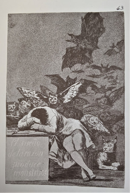 Goya's etching: The Sleep of Reason Produces Monsters