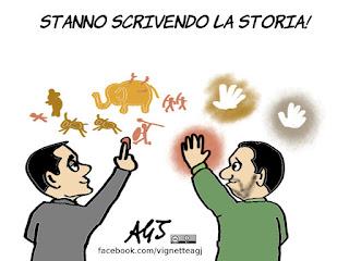 salvini, di maio, governo lega m5s, contratto di governo, politica, vignetta, satira