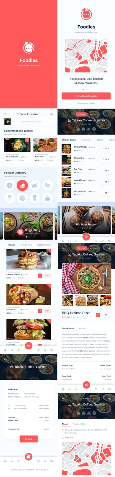 Download Food Delivery Mobile App Design