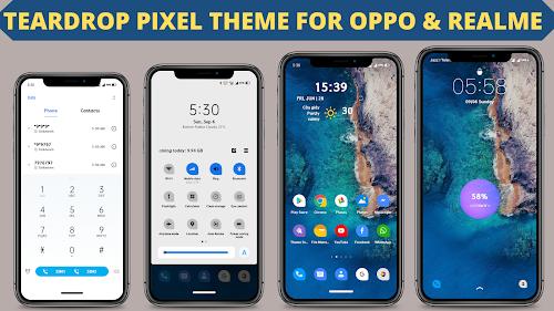 Chủ đề Pixel giọt nước cho Oppo và Realme || Chủ đề Oppo || Chủ đề Realme ||