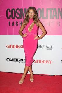 Kara Del Toro Hot Cleavage Picture in Pink Dress