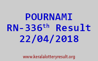 POURNAMI Lottery RN 336 Result 22-04-2018