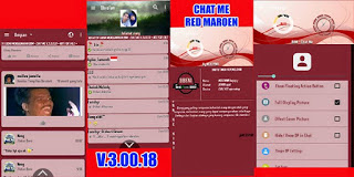 BM Mod Chat Me Red Maroen v.3.0.0.18 Apk Terbaru 2016