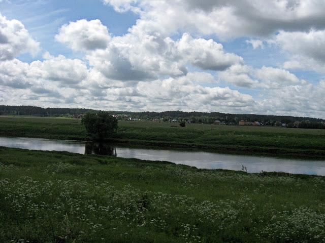 москва-река возле деревни ягунино