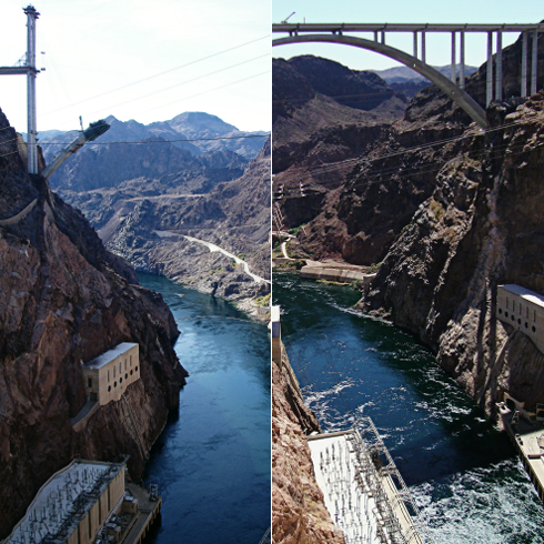 hoover dam bypass construction project pictures