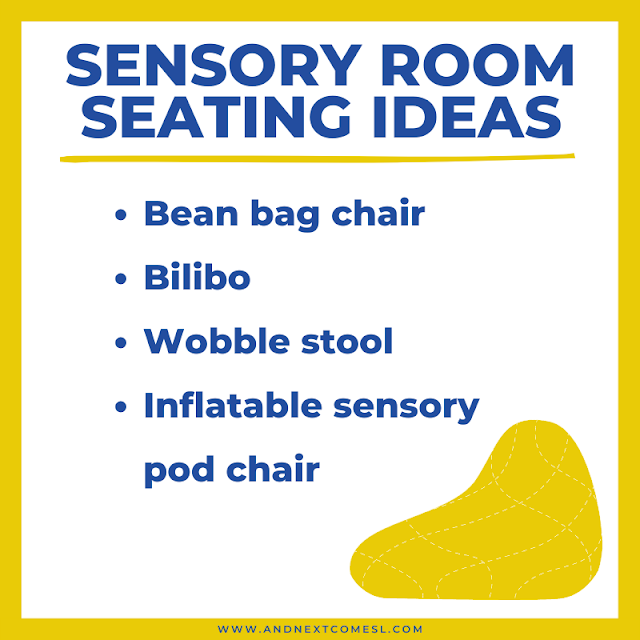 Suggestions for seating options in a sensory room