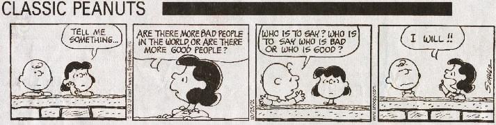 Peanuts cartoon, 'I will !!'