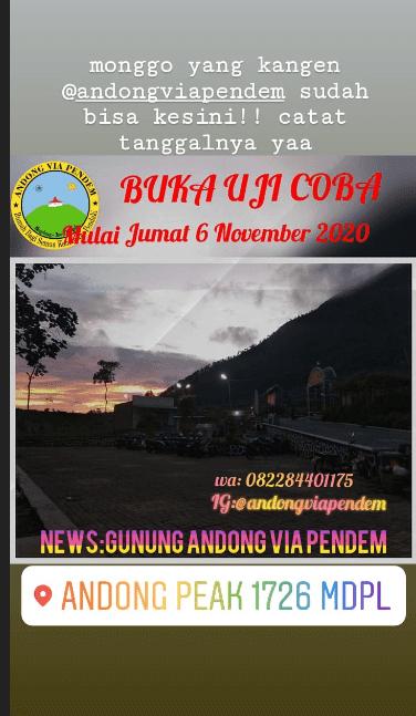Story uji coba pembukaan gunung Andong via Pendem - andongviapendem