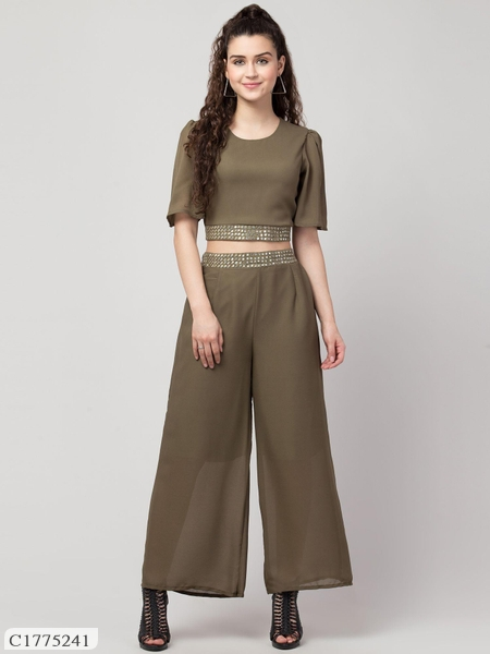 Womens Georgette Top & Bottom Set Online Shopping | Top and Bottom Set For Women