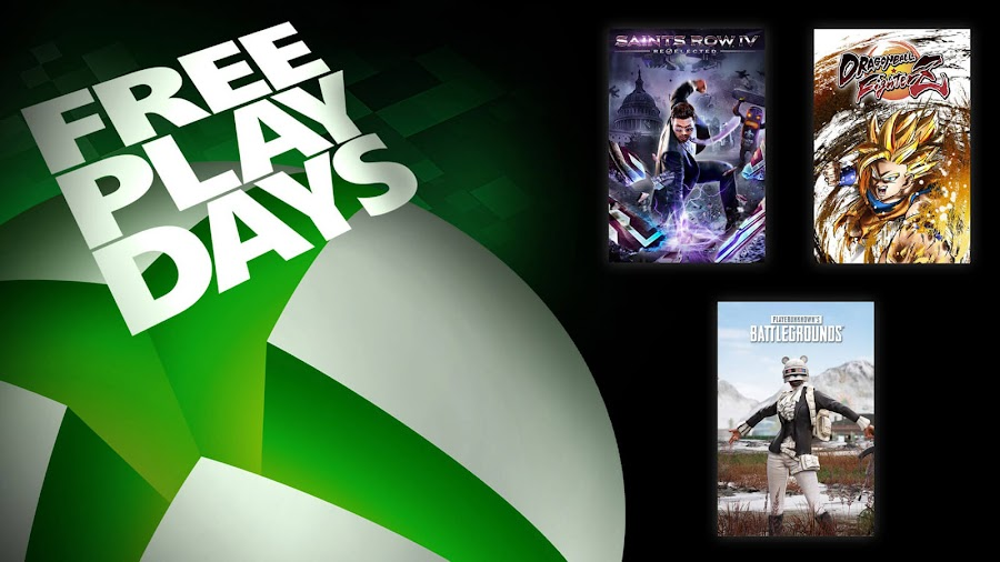 dragon ball fighterz pubg playerunknown's battlegrounds saints row 4 xbox live gold free play days event