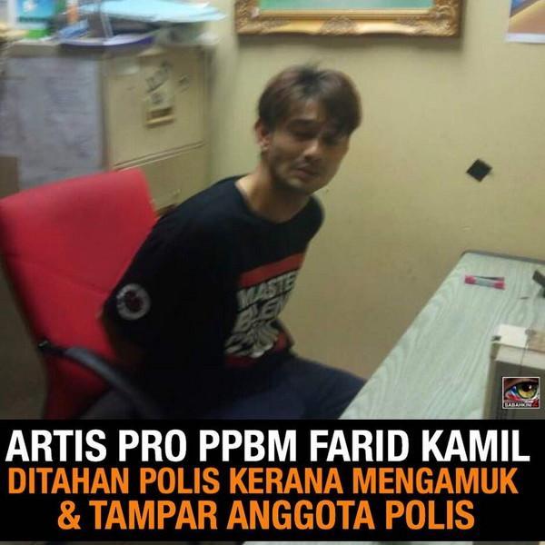 Pelakun Pro Parti Bunga Farid Kamil  Serang Polis,  Positif Ganja