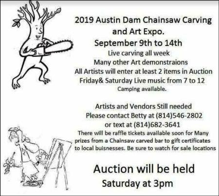 9-9 thru 14 Austin Dam Chainsaw Carving