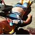 Motociclista fica ferido após sofrer acidente de moto no município de Sousa