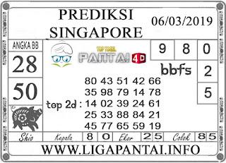 """Prediksi Togel """"SINGAPORE"""" PANTAI4D 06 MARET 2019"""