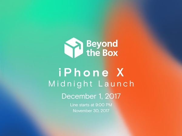 The iPhone X Midnight Launch at Beyond the Box