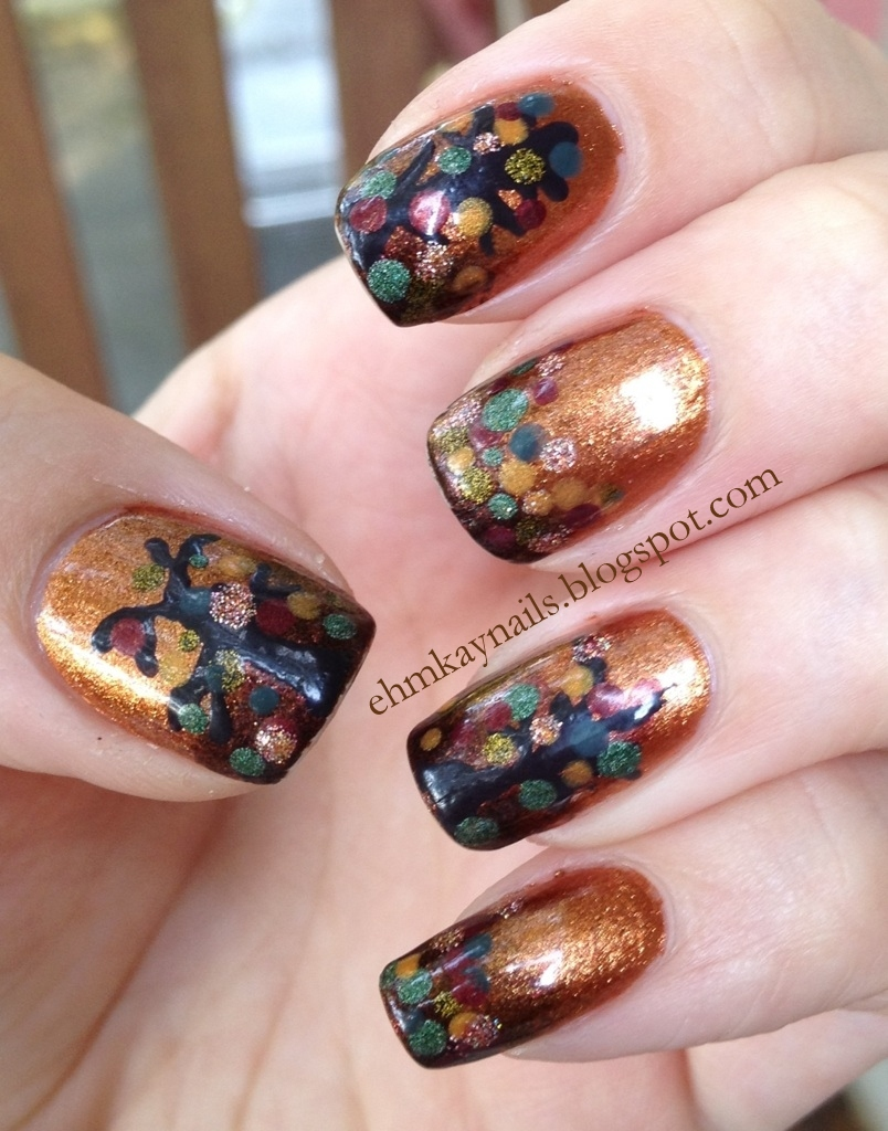 Ehmkay Nails: It's Time For Autumn: Falling Leaves Nails