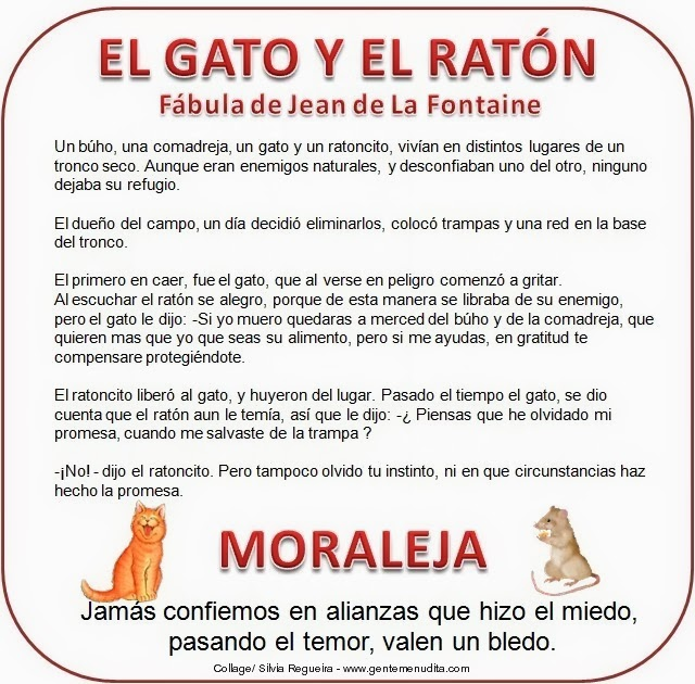 Jean+de+La+Fontaine+El+gato+y+el+ratónjpg (640×630) ´FÁBULAS - Sales Assistant Job Description
