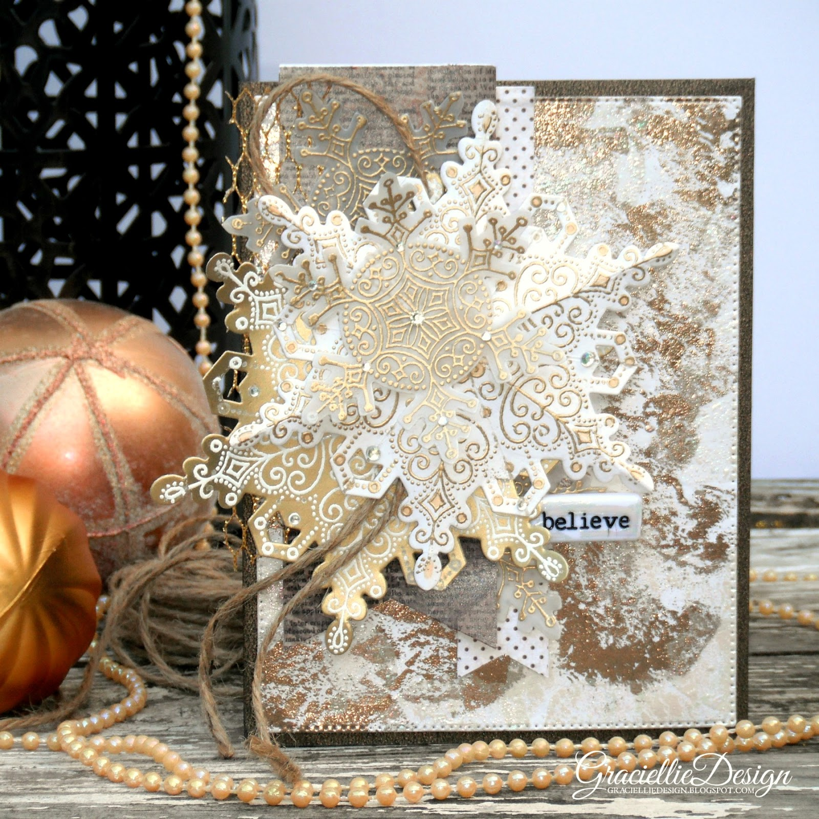 Distressed Foil Christmas Cards