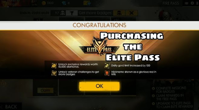 Elite Pass Privilege Card di Free Fire