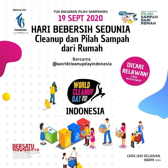 Pilah Sampah Dari Rumah Saat World Clean Up Day 2020