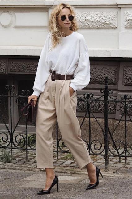 Стильный образ модные брюки 3-4