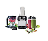 Nutri Ninja Auto iQ BL486 Complete Extraction System, with 1000 watt motor & stainless steel Pro Extractor blades, comes with selection of cups/containers. Blend juice, smoothie or puree