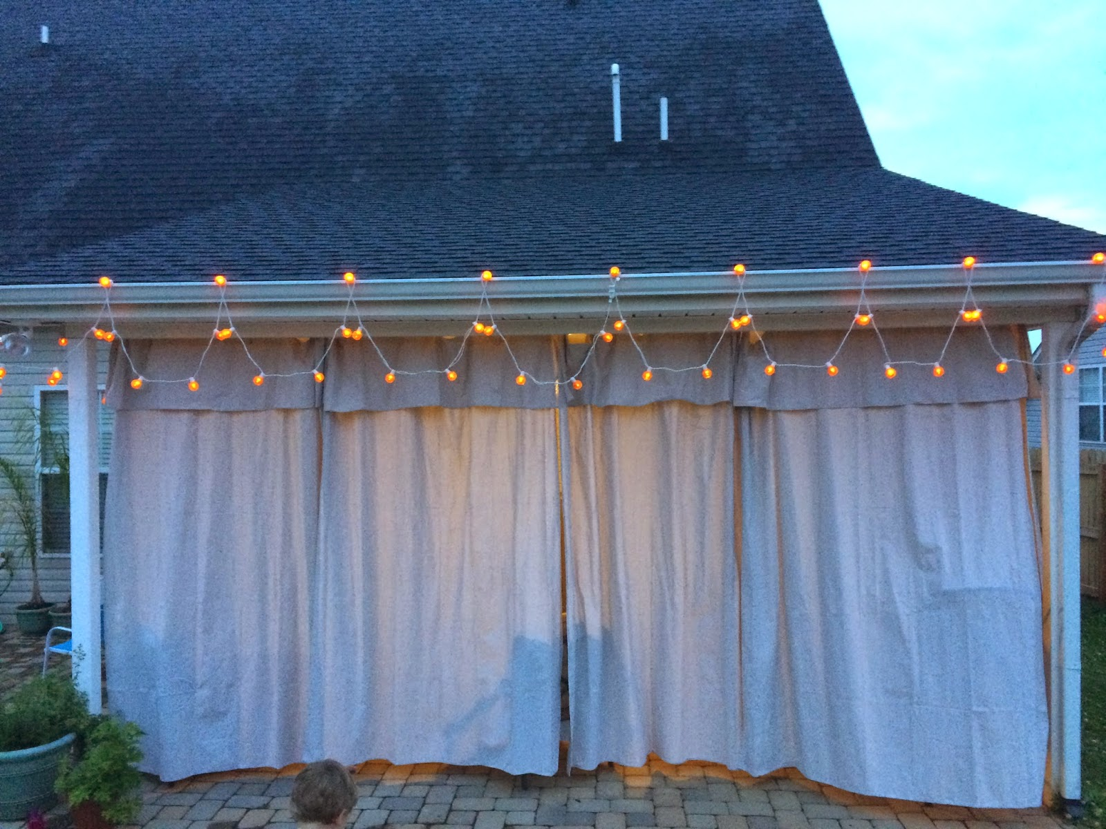 Diy Cabana Curtains Upside Of Chaos No Sew Outdoor Curtains