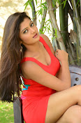 Poojitha sizzling in red dress-thumbnail-17
