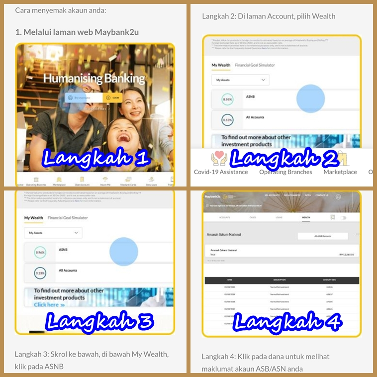 Cara Semak Duit ASB Secara Online Melalui Maybank