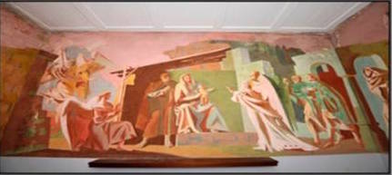 Brighton bits st wilfred 39 s mural restored for Church mural restoration