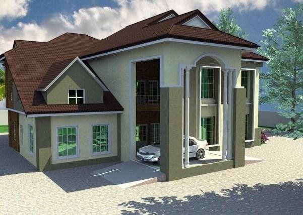 Contoh desain hunian mewah pada rumah idaman 1 lantai - Desain rumah idaman