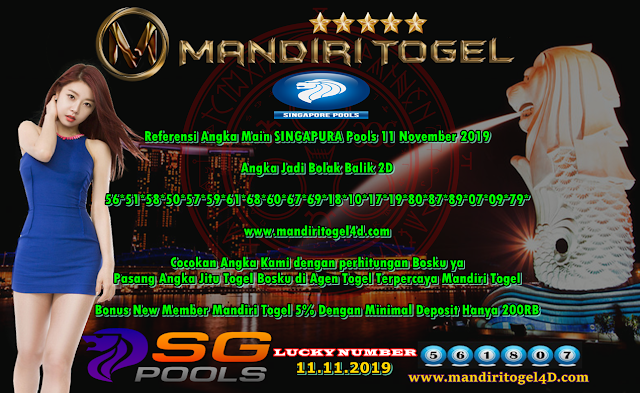 Prediksi Lucky Number Togel Singapura Mandiri Togel 11 November 2019