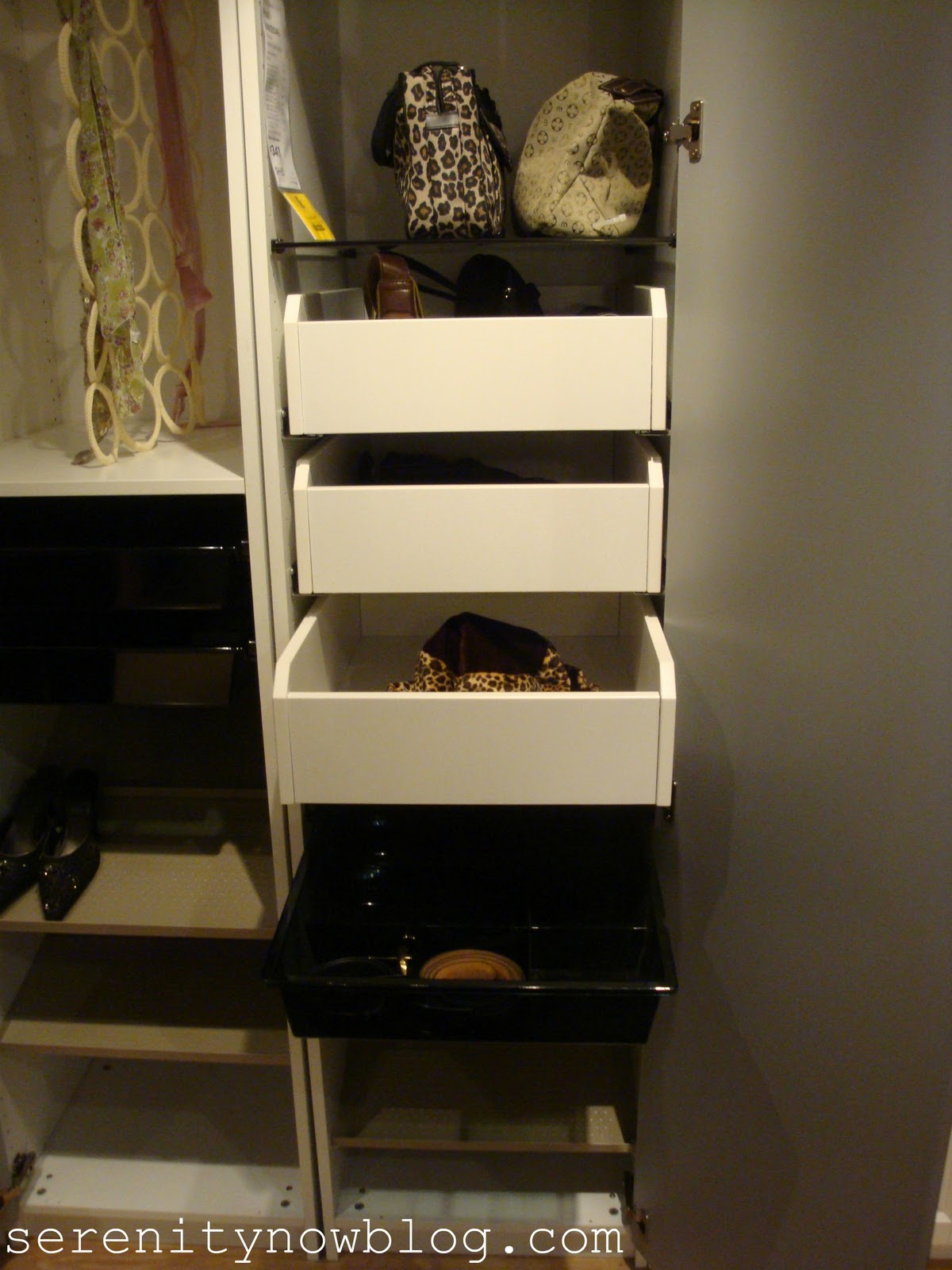 remarkable closet office | Serenity Now: Home Organizing Ideas-from My IKEA Shopping