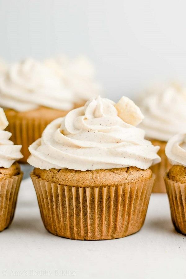 healthy cinnamon apple cupcakes