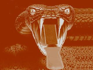 Il serpente che morde la lima del fabbro (Esopo)