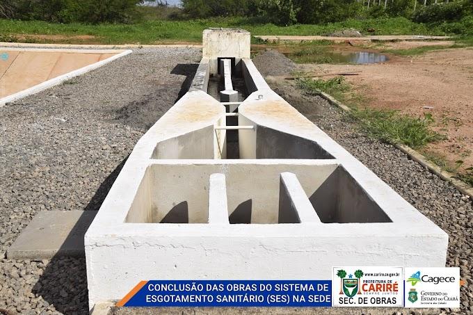 Após uma luta de vários anos, finalmente estão concluídas as obras do Sistema de Esgotamento Sanitário da cidade de Cariré