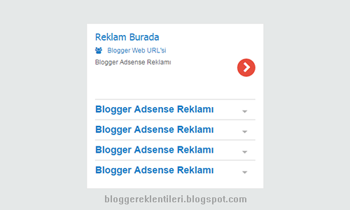 Blogger Google Adsense Widget Benzeri Metin Reklemı Ekleme