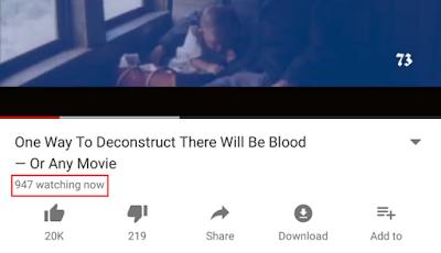يوتيوب تختبر عرض عدد المشاهدين الحاليين للفيديو في الوقت الحقيقي