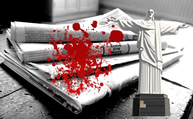 Original image is Newspapers B&W (4) by jon S, Modified By Mystiscio