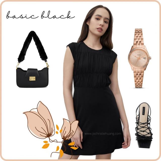 basic black little black dress