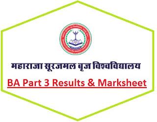 MSBU Bharatpur BA Final Year Result 2021