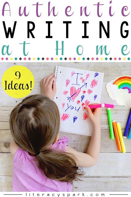 Check out these 9 ideas for encouraging your children (or students) to write at home.  Fun, easy, and authentic writing formats included.  Perfect for summer!